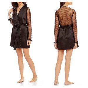 Flora Nikrooz Black Showstopper Robe Size XS